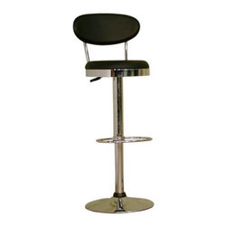 Baxton Studio - Baxton Studio Achilla Black Adjustable Barstool - I scream, you scream, we all scream for classic contemporary designs. Perfect for any counter or bar in your home, this stylish bar stool is thoroughly modern but harkens back to the days of soda shops.