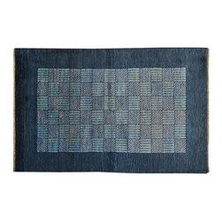 1800GetARug - Modern Gabbeh Denim Blue Hand Knotted Rug Oriental Rug Sh12565 - About Modern & Contemporary