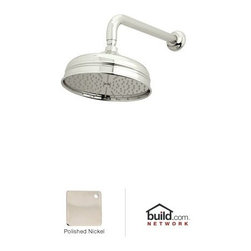 "Rohl - Rohl 1037/8PN Polished Nickel  Bordano 8"" Raincan Shower Head - Bordano 8"" Raincan Shower HeadRohl 1037/8 Features:All brass housing, swivel, and faceplate construction – weight: 3 lbs.Hand-machined from solid brass stockSuperior finishing process – chemical, scratch, and stain resistantSingle function rain shower headServiceable faceplateSwivel ball assembly – 360 degree shower head rotation1/2"" female supply connectionFlow rate: 2-1/2 gallons-per-minuteShower head diameter: 8-3/16""WDesigned for use with standard 1/2"" U.S. plumbing connectionsAll necessary mounting hardware includedTwo year warranty on manufacturer defectsManufactured in New Zealand, Western Europe, and/or North AmericaNote: Shower arm is not included, must order separatelyAbout Rohl:Excellence, durability, and beauty. Family values, integrity, and innovation. These are all terms which aptly describe Rohl and its remarkable selection of kitchen and bathroom faucets and fixtures. Since 1983, Rohl has maintained a commitment to providing high-quality plumbing products for residential and commercial applications, while assuring these fixtures would make a difference in the overall décor in the living space. With a dedication to excellence throughout the home, Rohl has been satisfying homes, schools, hospitality venues, and restaurants all around the world. Rohl specializes in providing timeless designs for every type of theme, including traditional, transitional, and modern. When Rohl suggests its products reflect the feel of a certain area outside the United States, it's more than just that. Rohl products are authentically crafted in towns in New Zealand, Western Europe, and North America."