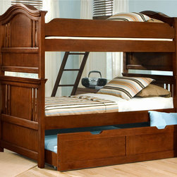 None - Branson Bunk Bed with Optional Storage Pedestal or Trundle - The Branson Bunk Bed feature gracefully arched top headboards and footboards with wide crown rails and decorative slat and peg details. Add the optional storage pedestal or trundle unit for additional storage or an extra sleeping space.