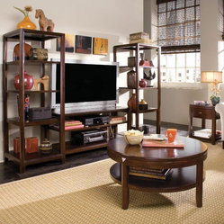 American Drew Tribecca 3 Piece Coffee Table Set w/ Entertainment Center