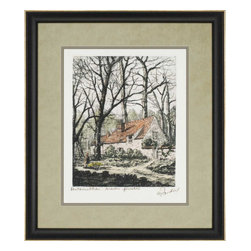 Paragon - Maison Cottage - Framed Art - Each product is custom made upon order so there might be small variations from the picture displayed. No two pieces are exactly alike.