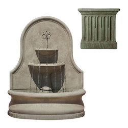 Campania International - Estancia Wall Fountain - Copper Bronze (CB) - 898 lbs. Shipping is available throughout the continental United States. As these fountains are made to order,_please allow 4 to 6 weeks for delivery. Drop ship is curbside delivery only.