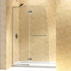 """DreamLine - DreamLine DL-6521R-01CL Aqua Ultra Shower Door & Base - DreamLine Aqua Ultra Frameless Hinged Shower Door and SlimLine 32"""" by 60"""" Single Threshold Shower Base Right Hand Drain"""