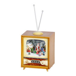 Winward Designs - Santa TV Music Box - A popular item, this music box plays a mix of Christmas tunes. Play this all night long during Christmas Eve!