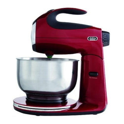 Sunbeam Rival - Stand Mixer Red 12Sp 350 Watt - Features die cast metal construction. 350 Watts of power. Includes stainless steel beaters, Stainless steel bowl 4.5 quart, and dough hooks.            Color=Red