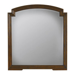 Stanley Furniture - Vintage-Mirror - Beautiful for its simplicity, the highlight of the Mirror is its notched corners. The only further adornment needed is the hand-rubbed luster of the rich Vintage Cherry finish, which imparts the appearance of a much-beloved family heirloom.
