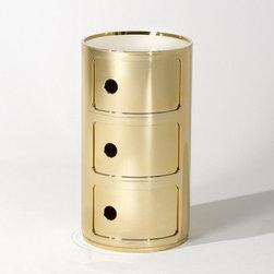 Kartell - Precious Componibili, Round 3-Unit | Kartell - Design by Anna Castelli Ferrieri.