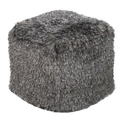 Lively Shag Pouf in Gray - Shake up your space with a fun shag pouf in a lively gray. This piece gives a space movement and playfulness, while providing ultra-soft seating and a comfy place to rest your feet.