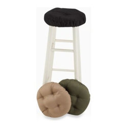 Brentwood Originals - Twill Bar Stool Covers - This tufted cushion will soften any stool for comfort. The attractive colors and twill fabrication make it great for your home.