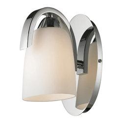 ELK Lighting - ELK Lighting 11385/1 Somerset Polished Chrome Wall Sconce - ELK Lighting 11385/1 Somerset Polished Chrome Wall Sconce