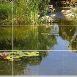 Picture-Tiles, LLC - Lakes Rivers Photo Ceramic Tile Mural 30 - * MURAL SIZE: 36x48 inch tile mural using (12) 12x12 ceramic tiles-satin finish.