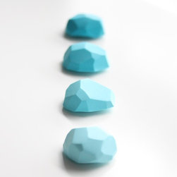Office Magnets, Rocky Mountain Turquoise by A Second Life - These faceted magnets in gradient tones are very cute and certainly trendy.