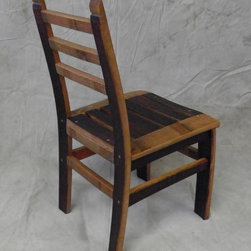 Wine Barrel Chair - This dining chair is part of our reCoop series — furniture made from reclaimed wine barrel staves.