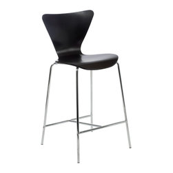 Eurostyle - Tendy-C Counter Chair (Set Of 2)-Wen/Chr - Modern style doesn't have to be trendy. You'll love the way this classic chair design looks in your updated kitchen. The clean cut form is refined and stylish, but will stand the test of time.