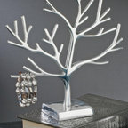 """Aluminum Jewelry Display Tree, 12""""H, Modern Jewelry Organizer - This ravishing Jewelry Display Tree is great for displaying rings, bracelets, and small necklaces."""