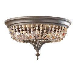 Murray Feiss - Murray Feiss FM376RI Maarid Traditional Flush Mount Ceiling Light - Murray Feiss FM376RI Maarid Traditional Flush Mount Ceiling Light