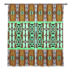 "DiaNoche Designs - Window Curtains Lined by Susie Kunzelman Door Knocker - Purchasing window curtains just got easier and better! Create a designer look to any of your living spaces with our decorative and unique ""Lined Window Curtains."" Perfect for the living room, dining room or bedroom, these artistic curtains are an easy and inexpensive way to add color and style when decorating your home.  This is a woven poly material that filters outside light and creates a privacy barrier.  Each package includes two easy-to-hang, 3 inch diameter pole-pocket curtain panels.  The width listed is the total measurement of the two panels.  Curtain rod sold separately. Easy care, machine wash cold, tumble dry low, iron low if needed.  Printed in the USA."