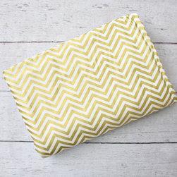 Caden Lane - Gold Chevron Crib Blanket - Gold Chevron Crib Blanket