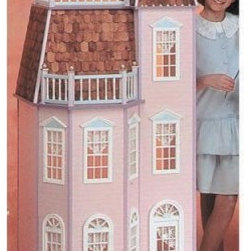 Real Good Toys Playscale® Victorian Townhouse Kit - Boasting several impressive window fronts and a broad balcony the Real Good Toys Victorian Townhouse Kit has all the finishing touches. You'll enjoy its second floor balcony and large front porch with 10 square feet of play space! Features include: two full length closets with closet pole and shelf included and two handy storage drawers. The kit also includes pre-assembled windows and doors and wooden shingles for the roof. Sturdy construction of 3/8 thick cabinet grade plywood makes up the seven rooms and 14 inch floor to ceiling height and 10 Rooms. You'll appreciate the step-by-step instructions with detailed drawings.Door and windows do not include acrylic or trim. Jamestown exterior door does not include trim and the palladian exterior door does not include acrylic. Windows do not include acrylic.Recommended supplies: hammer glues utility knife masking tape sandpaper (100 and 320*Paint glue curtains and any landscaping or furnishings are not included.Gingerbread (if used) and Trim Strips are supplied in easy to cut lengths.The overall dimensions of each dollhouse include items that protrude such as porches and roof cresting.Our products are not recommended for children under the age of 3.About Real Good ToysBased in Barre Vt. Real Good Toys has been handcrafting miniature homes since 1973. By designing and engineering the world's best and easiest to assemble miniature homes Real Good Toys makes dreams come true. Their commitment to exceptional detail the highest level of quality and ease of assembly make them one of the most recommended names in dollhouses. Real Good dollhouses make priceless gifts to pass on to your children and your children's children for years to come.