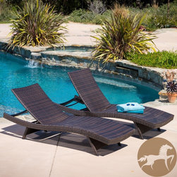 Christopher Knight Home - Christopher Knight Home Toscana Outdoor Brown Wicker Lounge (Set of 2) - Add an exotic touch to your patio with the Toscana outdoor lounge set. With rolling curves these chairs are built for comfort and style. These wicker chairs feature a durable construction that is both weather resistant and UV protected.