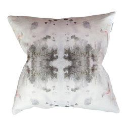 "Adaptive Textiles - Roman Ram 18""X18"" Pillow - The subtle watercolor markings on this pillow give it an artful quality. It feels rich and thoughtful in design and would surely be a conversation piece in any room."