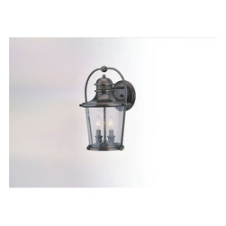 Troy Lighting - Guild Hall Wall Lantern - Guild Hall Wall Lantern features a solid brass frame with an english bronze finish and is available in small, medium or large version. The small version requires one 75-watt, 120 volt A19 medium base incandescent bulb, the medium version requires two 60-watt, 120 volt B10 candelabra base bulbs, and the the large version requires three 60-watt, 120 volt B10 candelabra base incandescent bulbs. Bulbs are not included. Dimensions: Small: 8.5W x 12H x 7.5D. Medium: 10.75W x 15.5H x 10.25D. Large: 14.5W x 20H x 13.25D.
