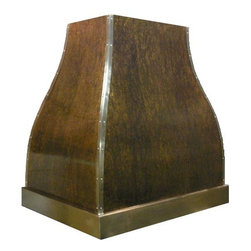 Copper range hoods - Copper range hood - with stainless steel trim