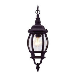 Livex Lighting Inc - Livex Frontenac Outdoor Chain Hang Black -7523-04 - Livex products are highly detailed and meticulously finished by some of the best craftsmen in the business