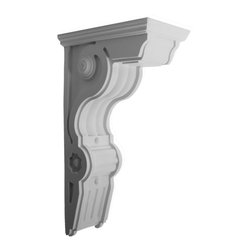 "Ekena Millwork - 6 1/2""W x 14 1/2""D x 26""H Giana Large Corbel - 6 1/2""W x 14 1/2""D x 26""H Giana Large Corbel. These corbels are truly unique in design and function. Primarily used in decorative applications urethane corbels can make a dramatic difference in kitchens, bathrooms, entryways, fireplace surrounds, and more. This material is also perfect for exterior applications. It will not rot or crack, and is impervious to insect manifestations. It comes to you factory primed and ready for your paint, faux finish, gel stain, marbleizing and more. With these corbels, you are only limited by your imagination."