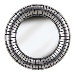 Silver Ice Resin 34-Inch-W Round Wall Mirror -