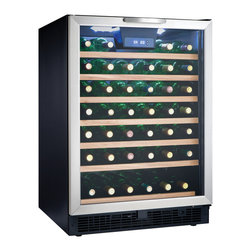 Danby - 50 Bottle Built-in or Freestanding Wine Cooler - 50 bottle (5.3 cu. ft.) capacity