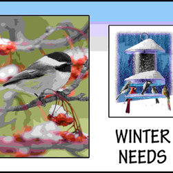 Songbird Essentials - Winter Sign - Enjoy the ability to change layout in your store easily as seasons and specific birds change. Enhance your store's image with stunning bird signage and promote sales! As the fall season begins and the temperature starts to drop, many migrating birds head