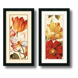 Amanti Art - Poesie Florale Paneal - set by Lisa Audit - Decorate with springtime tulips and poppies year round with these garden floral pieces by Lisa Audit.