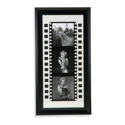 Bassett Mirror - Bassett Mirror Framed Under Glass Art, Black and White Film I - Black and White Film I