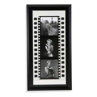 Bassett Mirror - Bassett Mirror Framed Under Glass Art, Black and White Film I - Black and White Film I