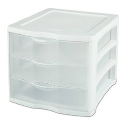 Sterilite - Sterilite 3-Drawer Unit, White (4 Pack) (17918004) - Sterilite 17918004 3 Drawer Unit, White (4 pack)