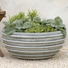 Contemporary Outdoor Planters by Home Infatuation