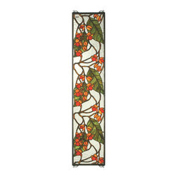 Meyda Tiffany - Meyda Tiffany Bittersweet Tiffany Window X-17953 - From the Bittersweet Collection, this Meyda Tiffany window features charming botanical detailing and an elongated rectangular shape that is ideal for difficult-to-decorate areas. When the light hits it just right, this design will dazzle and delight with its beautiful combination of red, beige and green hues.