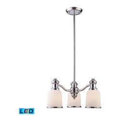 Landmark Lighting - Landmark Lighting Brooksdale 66152-3-LED 3-Light Chandelier in Polished Chrome - 66152-3-LED 3-Light Chandelier in Polished Chrome - LED - 800 Lumens belongs to Brooksdale Collection by Landmark Lighting Blending Vintage Design Elements With Today'S Casual Living, The Brooksdale Collection'S Functional Beauty Allows For Use In A Variity Of Decors. - LED, 800 Lumens (2400 Lumens Total) With Full Scale Dimming Range, 60 Watt (180 Watt Total)Equivalent , 120V Replaceable LED Bulb Included Chandelier (1)