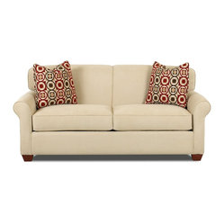 Savvy - Calgary Full Sleeper Sofa in Fastlane Oatmeal - Calgary Full Sleeper Sofa in Fastlane Oatmeal