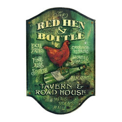 Red Horse Signs - Red Hen Wall Art - 15W x 26H in. Multicolor - PP-956 - Shop for Framed Art and Posters from Hayneedle.com! About Red Horse SignsSpecializing in vintage signs that recall older simpler times Red Horse Signs offers hundreds of possibilities for giving your home a vintage appeal. Each sign is hand painted and then reproductions are printed on to distressed hardwood panels for a rustic antique look. Take you home back to calmer times with Red Horse Signs.