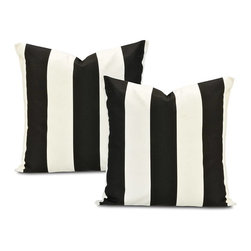 EFF - Cabana Black Printed Cotton Cushion Cover (Set of 2) - These These cushion covers are a great addition to any space. Matching a pillow to your curtains or choose a new design to spice up your room.