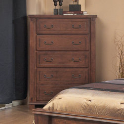"AYCA Furniture - Fergus County Chest - Fergus County Chest; Solid cherry wood and ply; Polyurethane finish; Full extension gliders and dust proof panels; Cedar and felt lined drawers; Front and rear English dovetailed drawers; Hidden jewelry storage; Deep bottom drawer; Flush mounted back with screws; Weight: 165 lbs; Dimensions: 55""H x 40""W x 20""D"