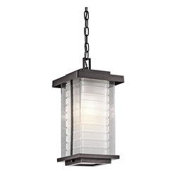 Kichler Lighting - Kichler Lighting 49368AZ Ascari Modern / Contemporary Outdoor Hanging Light - This versatile 1 light hanging outdoor pendant from the Ascari™ collection makes a clean, understated statement. With its Architectural Bronze™ finish and Clear Outer Glass with Etched Inside Inner Glass, this design will enhance any space.