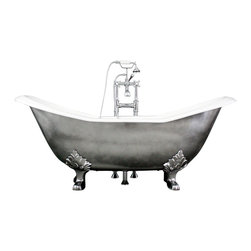 "Penhaglion - The Salisbury 73"" Cast Iron Double Slipper Tub Package from Penhaglion - Product Details"