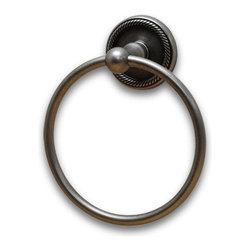 Residential Essentials - Aged Pewter Woodrich Towel Ring(RE2186AP) - Aged Pewter Woodrich Towel Ring