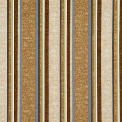 Beige Blue Green And Brown Striped Indoor Outdoor Upholstery Fabric By The Yard - This upholstery grade fabric can be used for all indoor and outdoor applications. It is Scotchgarded, and is mildew, fade, water, and bacteria resistant. This fabric is made in America!