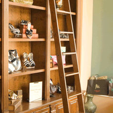 modern ladders and step stools by Rolling Library Ladder Kits