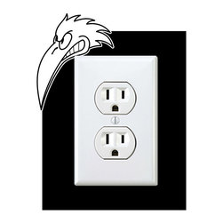 StickONmania - Outlet Eagle #1 Sticker - a vinyl decal sticker to decorate a wall outlet.  Decorate your home with original vinyl decals made to order in our shop located in the USA. We only use the best equipment and materials to guarantee the everlasting quality of each vinyl sticker. Our original wall art design stickers are easy to apply on most flat surfaces, including slightly textured walls, windows, mirrors, or any smooth surface. Some wall decals may come in multiple pieces due to the size of the design, different sizes of most of our vinyl stickers are available, please message us for a quote. Interior wall decor stickers come with a MATTE finish that is easier to remove from painted surfaces but Exterior stickers for cars,  bathrooms and refrigerators come with a stickier GLOSSY finish that can also be used for exterior purposes. We DO NOT recommend using glossy finish stickers on walls. All of our Vinyl wall decals are removable but not re-positionable, simply peel and stick, no glue or chemicals needed. Our decals always come with instructions and if you order from Houzz we will always add a small thank you gift.